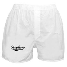 Stephon Vintage (Black) Boxer Shorts