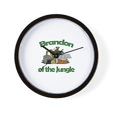 Brandon of the Jungle  Wall Clock