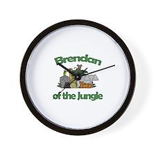 Brendan of the Jungle  Wall Clock