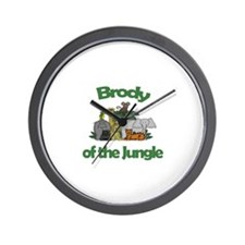 Brody of the Jungle  Wall Clock