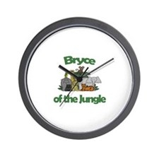 Bryce of the Jungle  Wall Clock
