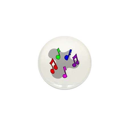 Musical Notes Design Mini Button (10 pack)