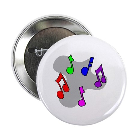 "Musical Notes Design 2.25"" Button (10 pack)"