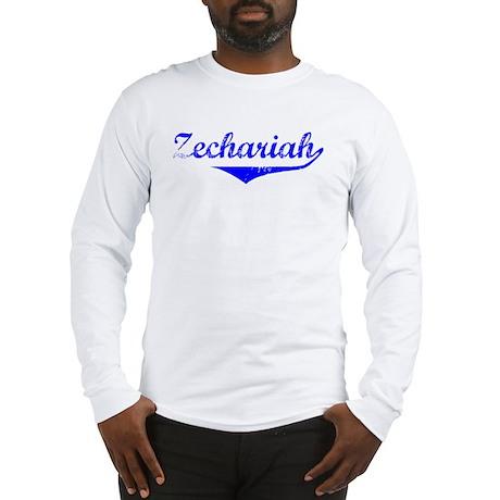 Zechariah Vintage (Blue) Long Sleeve T-Shirt