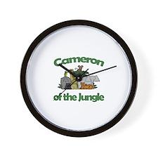 Cameron of the Jungle  Wall Clock