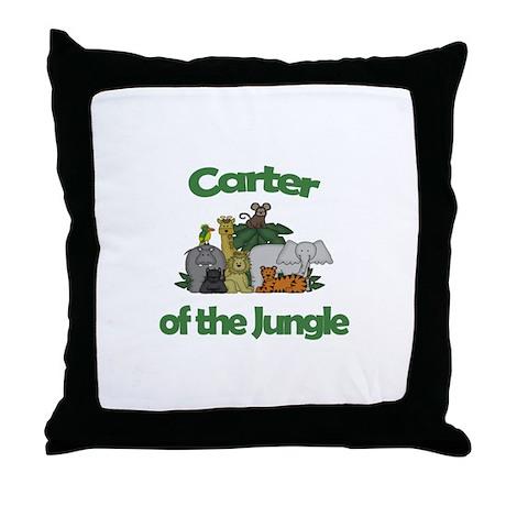 Carter of the Jungle Throw Pillow