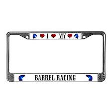 Barrel Racing License Plate Frame