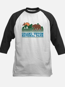 Grand Teton National Park Kids Baseball Jersey