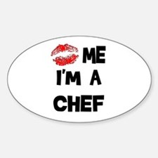 'Kiss Me I'm A Chef Oval Decal