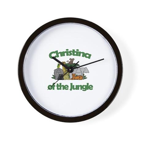 Christina of the Jungle Wall Clock