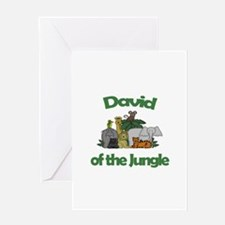 David of the Jungle Greeting Card