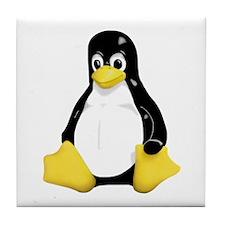 Linux Tux Mascot Tile Coaster