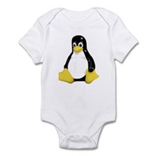 Linux Tux Mascot Infant Bodysuit