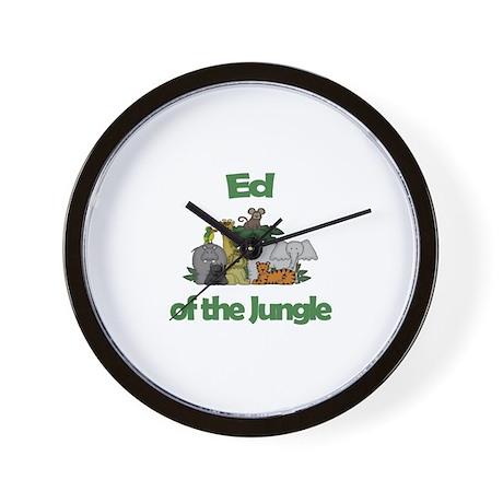 Ed of the Jungle Wall Clock