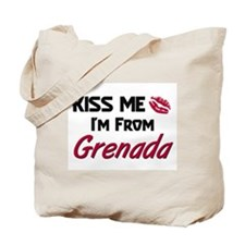 Kiss Me I'm from Grenada Tote Bag
