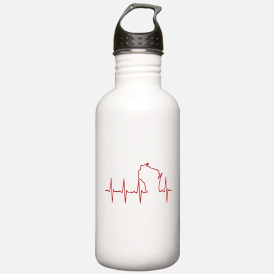 Wisconsin Heartbeat Water Bottle