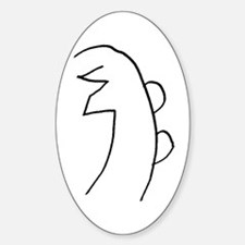Se-he-ki (MRA Hand Drawn) Oval Decal