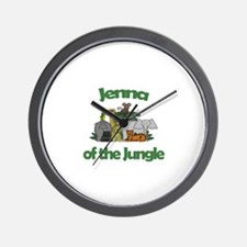 Jenna of the Jungle Wall Clock