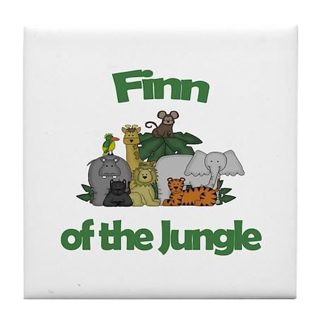 Finn of the Jungle Tile Coaster