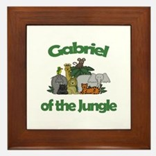 Gabriel of the Jungle  Framed Tile