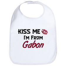 Kiss Me I'm from Gabon Bib
