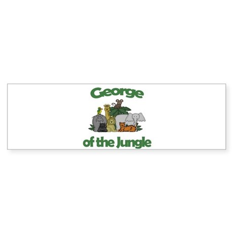 George of the Jungle Bumper Sticker
