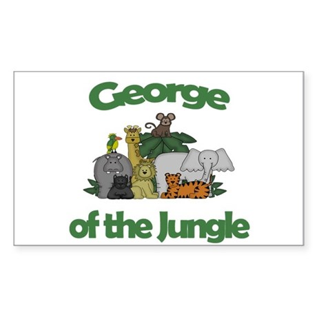 George of the Jungle Rectangle Sticker