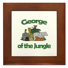 George of the Jungle  Framed Tile