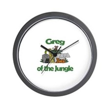 Greg of the Jungle  Wall Clock