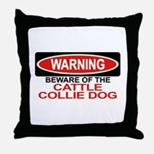 CATTLE COLLIE DOG Throw Pillow