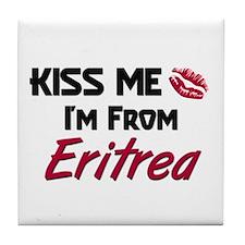 Kiss Me I'm from Eritrea Tile Coaster