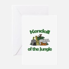 Kendall of the Jungle Greeting Card