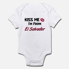 Kiss Me I'm from El Salvador Infant Bodysuit