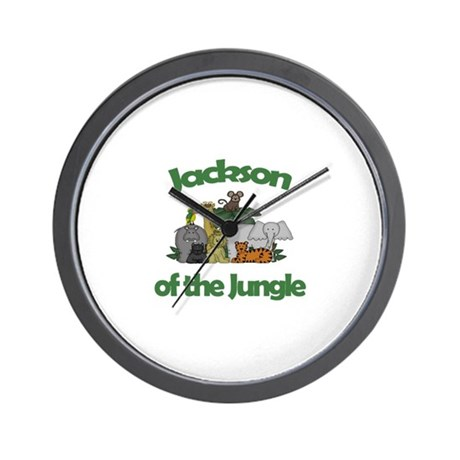 Jackson of the Jungle Wall Clock