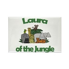 Laura of the Jungle Rectangle Magnet