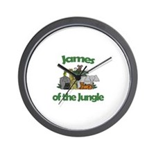 James of the Jungle  Wall Clock