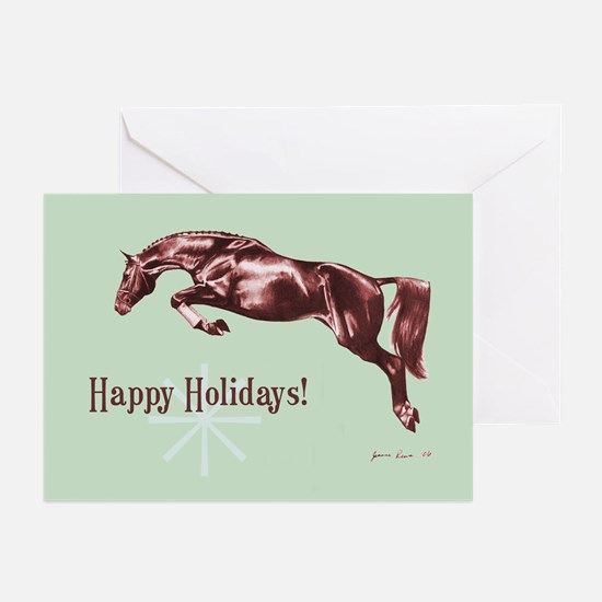 Retro Jumping Horse Holiday Cards (Pk of 10)