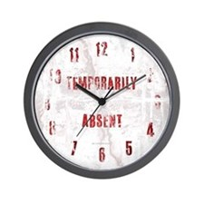 Temporarily Absent Wall Clock