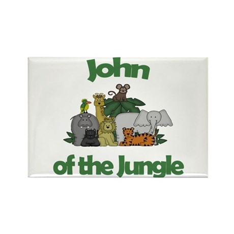 John of the Jungle Rectangle Magnet (10 pack)