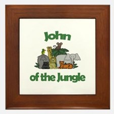 John of the Jungle  Framed Tile
