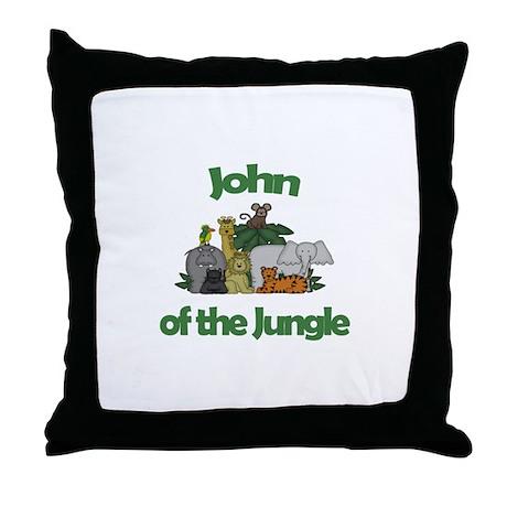 John of the Jungle Throw Pillow
