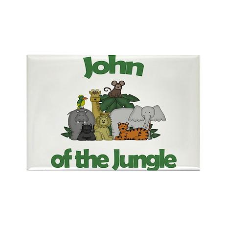 John of the Jungle Rectangle Magnet