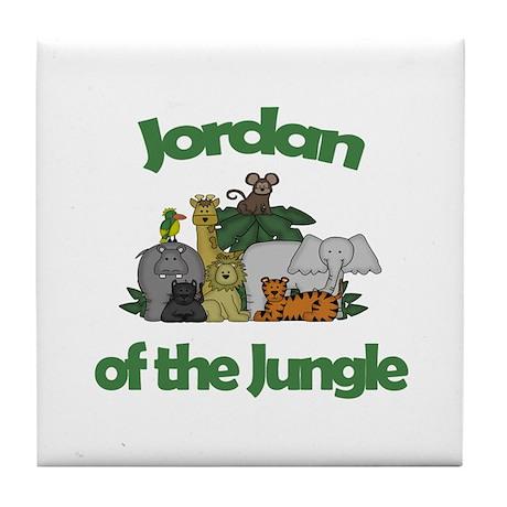 Jordan of the Jungle Tile Coaster