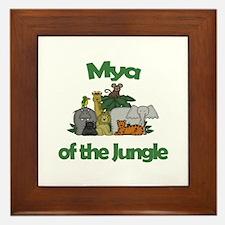 Mya of the Jungle Framed Tile