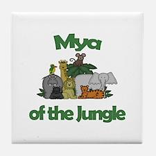 Mya of the Jungle Tile Coaster