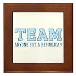 Team Anti Republican Tile (Framed)