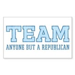 Team Anti Republican Rectangle Sticker