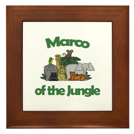 Marco of the Jungle Framed Tile