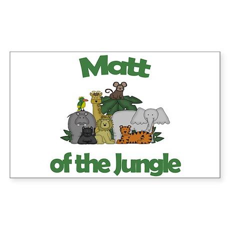 Matt of the Jungle Rectangle Sticker