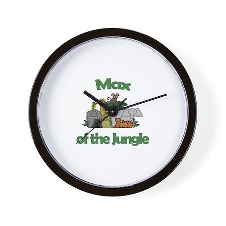 Max of the Jungle Wall Clock